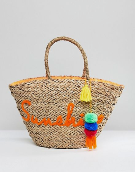 ASOS Straw Beach Bag