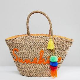 ASOS Straw Beach Bag